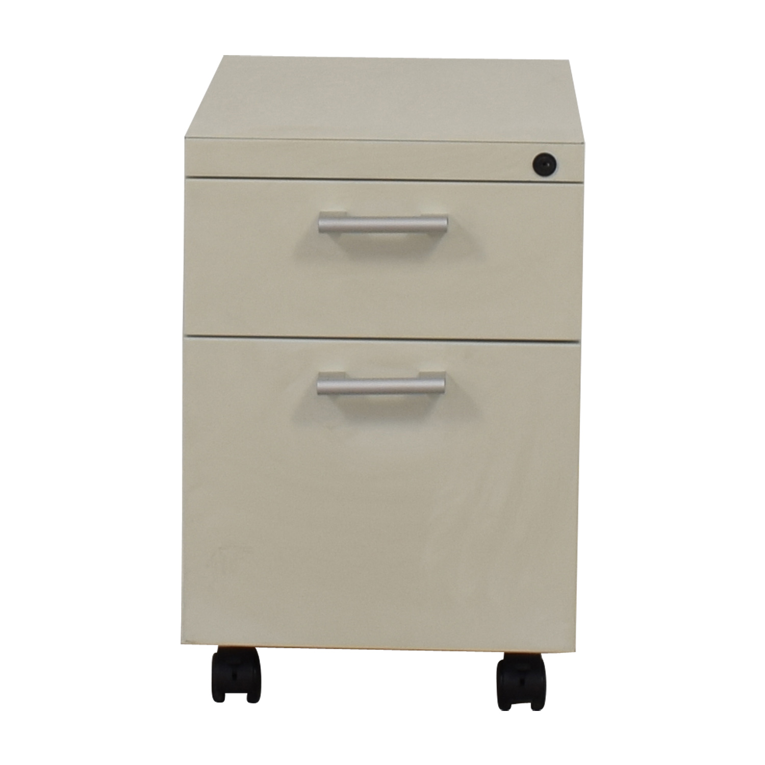 White Two-Drawer Filing Cabinet