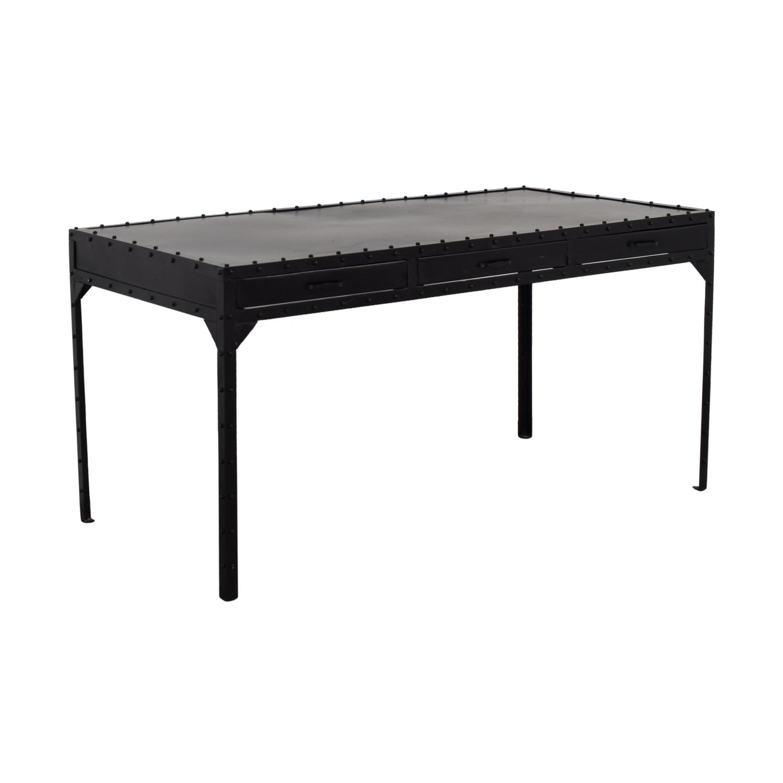 ABC Carpet and Home ABC Carpet and Home Black Metal Rivet Desk for sale