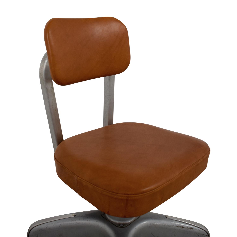 Cole Steel Cognac Leather Office Chair sale