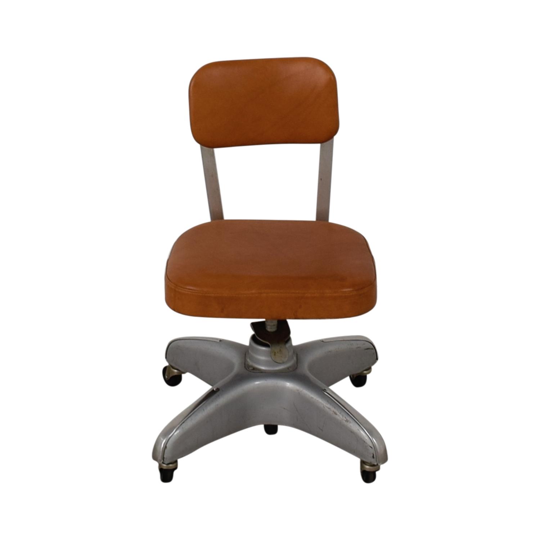 shop Cole Steel Cognac Leather Office Chair Cole Steel
