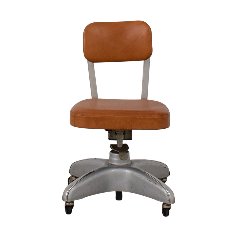 Cole Steel Cognac Leather Office Chair Cole Steel