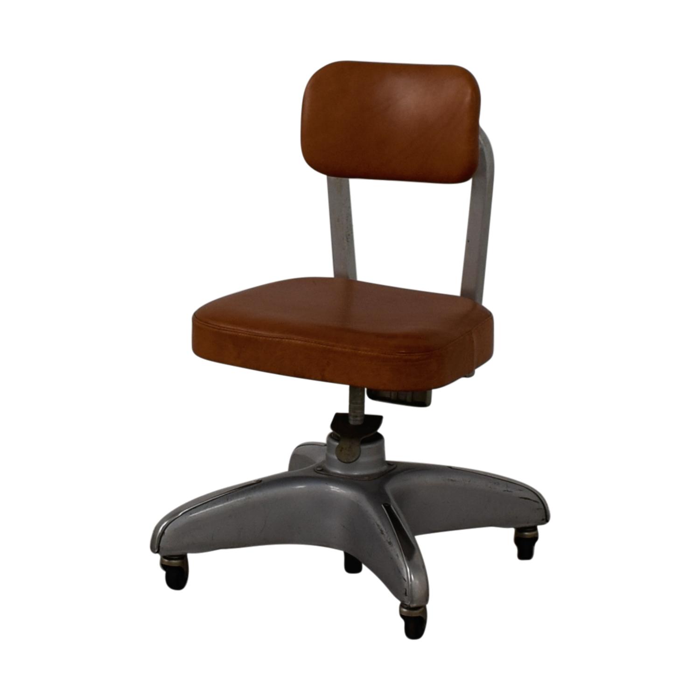Cole Steel Cole Steel Cognac Leather Office Chair nj