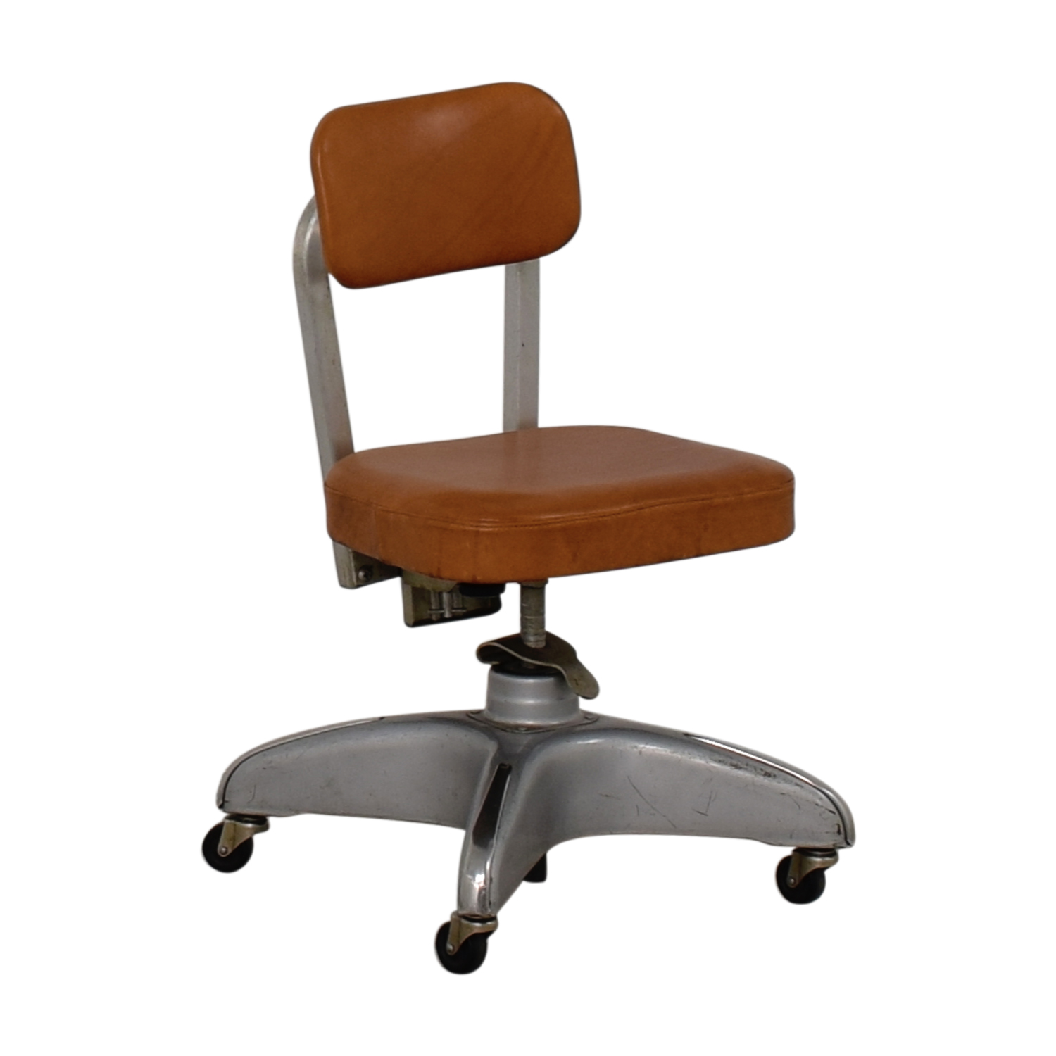 Cole Steel Cole Steel Cognac Leather Office Chair nyc