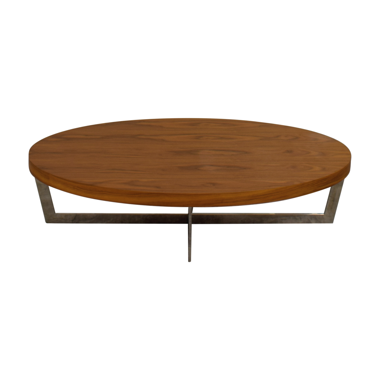 Oval Brown Coffee Table