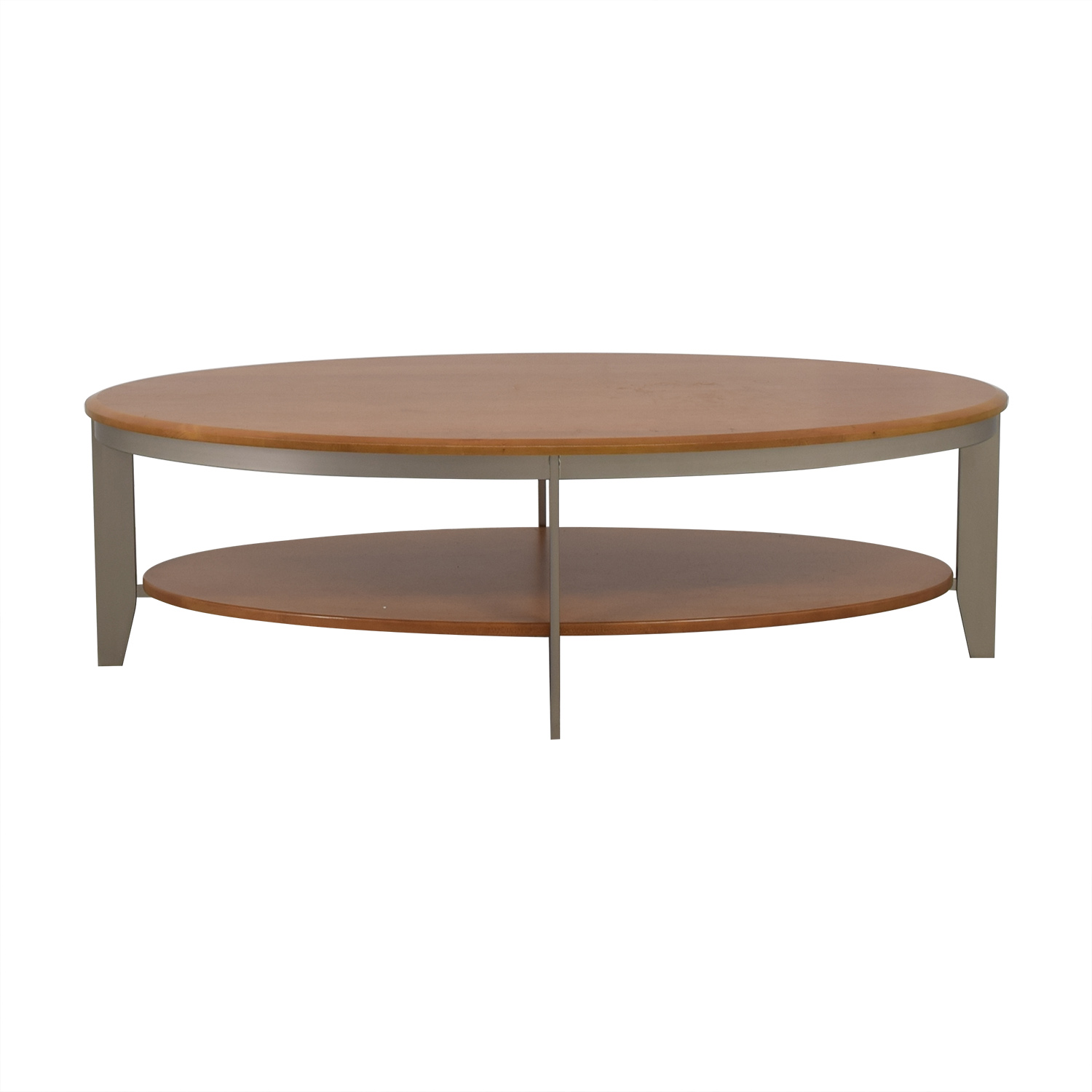 Two Tier Oval Wood Coffee Table