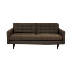 Crate & Barrel Crate & Barrel Petrie Grey Tufted Two-Cushion Sofa price