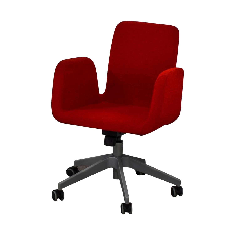 buy IKEA Patrik Red Rolling Desk Chair IKEA