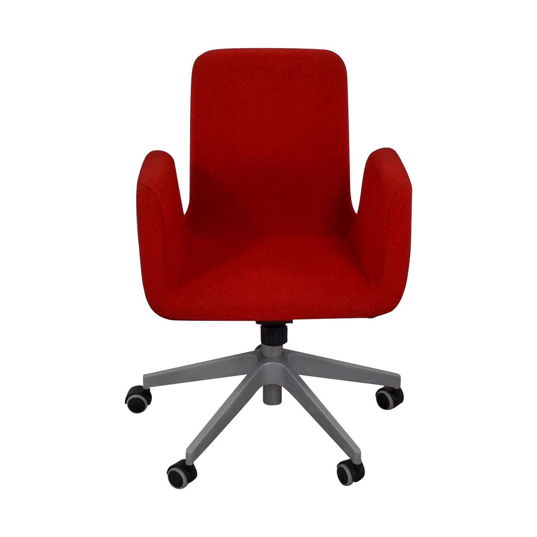 IKEA IKEA Patrik Red Rolling Desk Chair Red