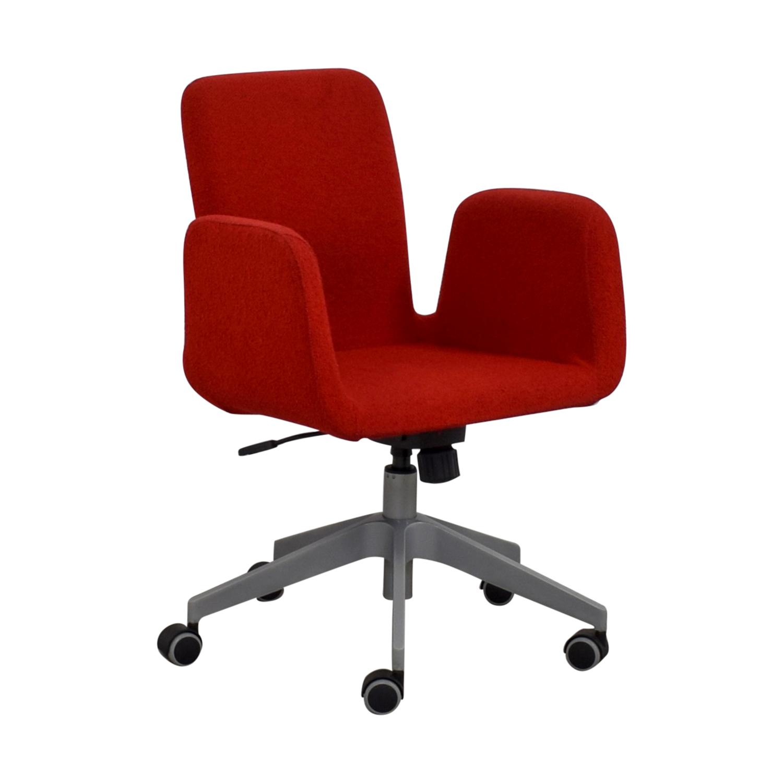 Remarkable 79 Off Ikea Ikea Patrik Red Rolling Desk Chair Chairs Inzonedesignstudio Interior Chair Design Inzonedesignstudiocom