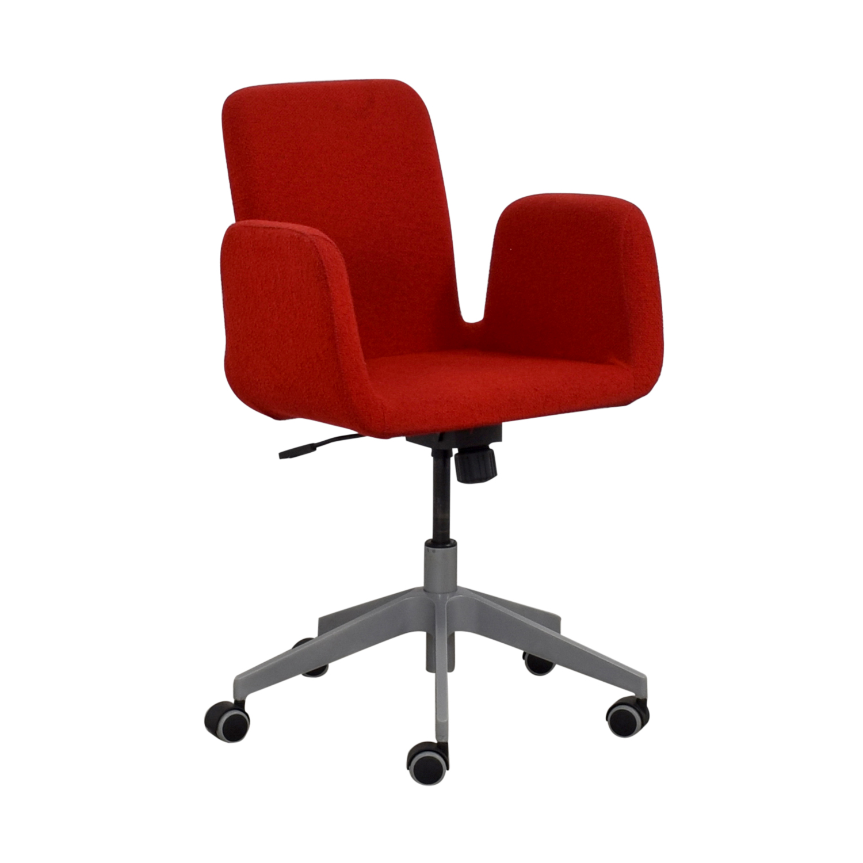 IKEA Patrik Red Rolling Desk Chair IKEA