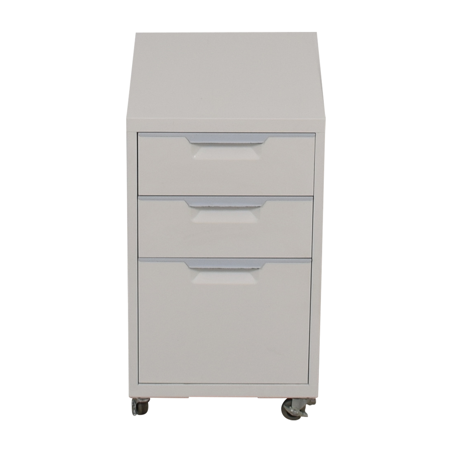 shop CB2 TPS White Three-Drawer Filing Cabinet CB2 Sofas
