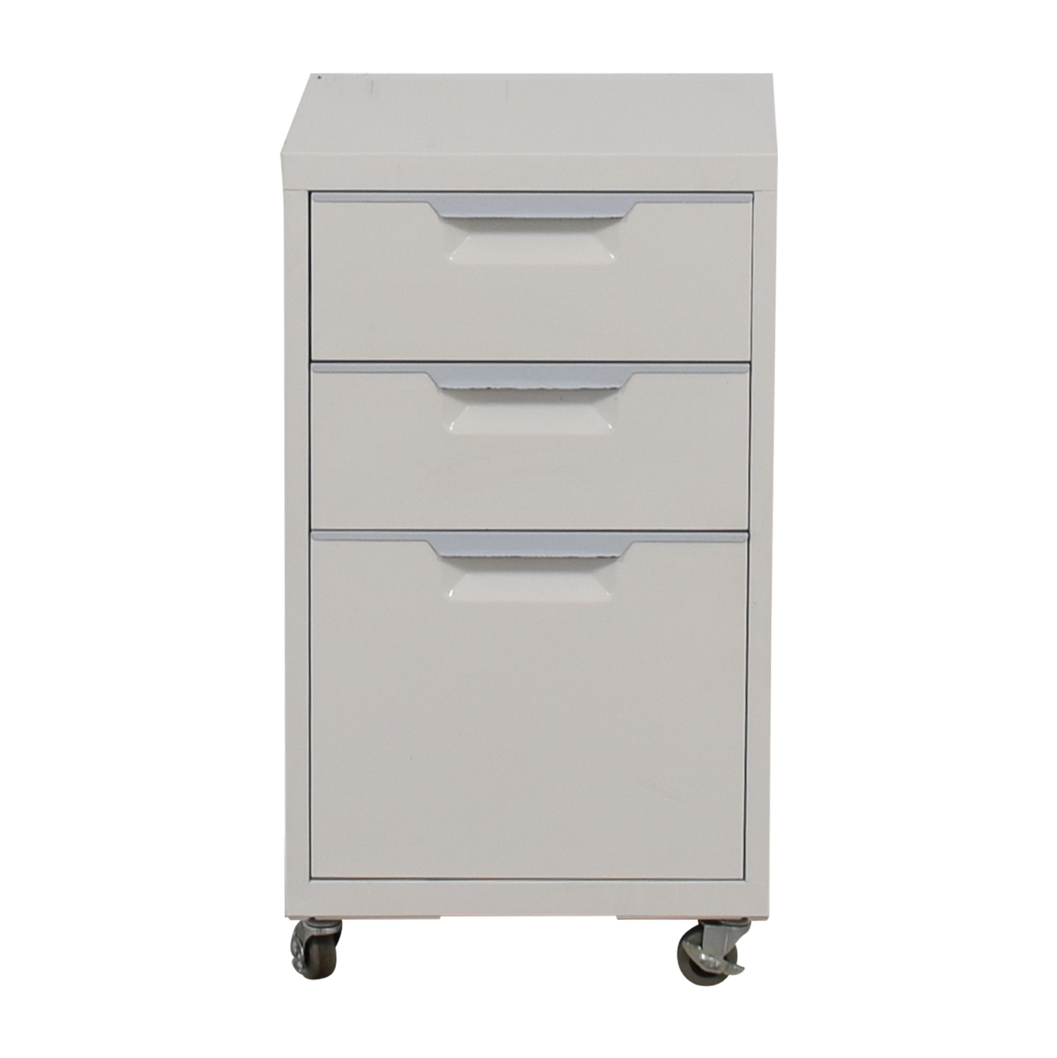CB2 TPS White Three-Drawer Filing Cabinet CB2