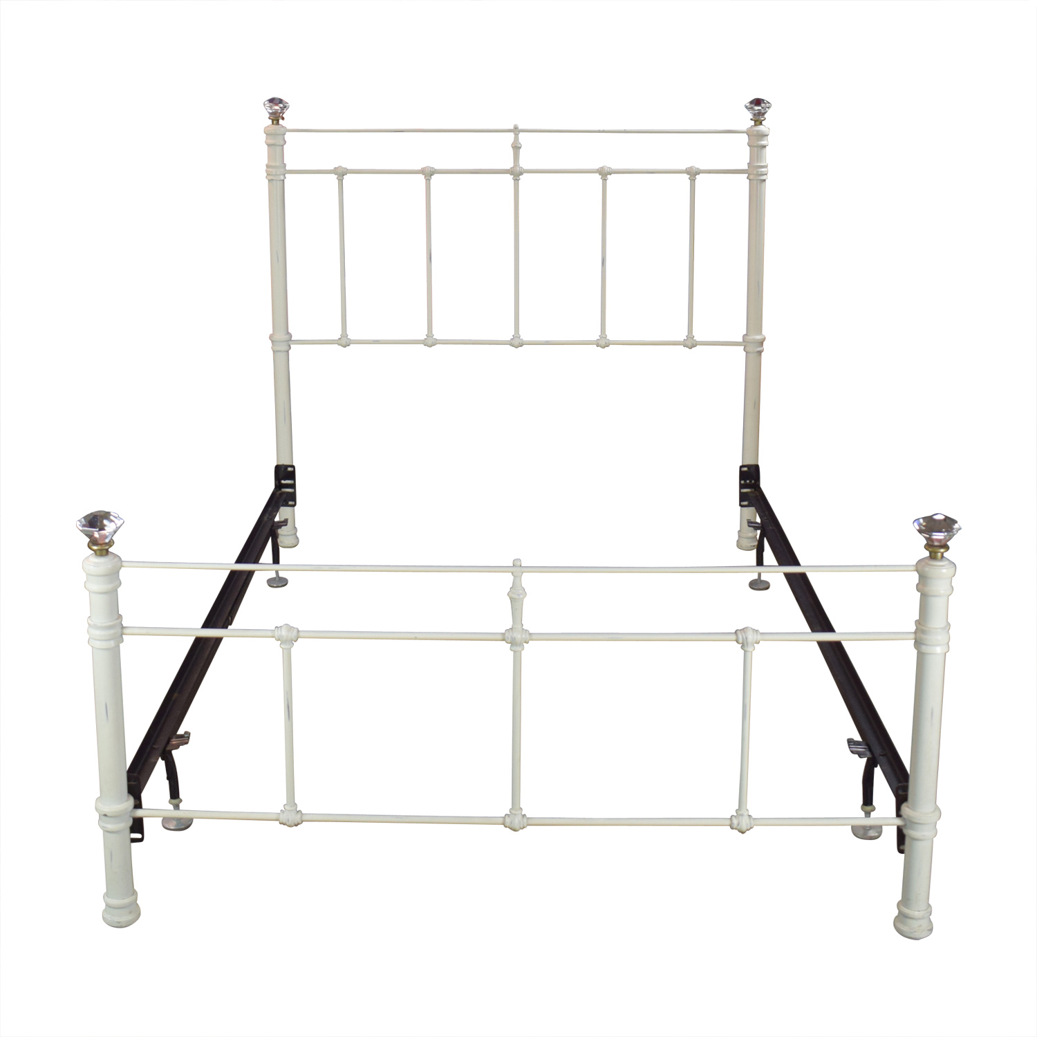 Pottery Barn Claudia Distressed White Full Bed Frame / Beds