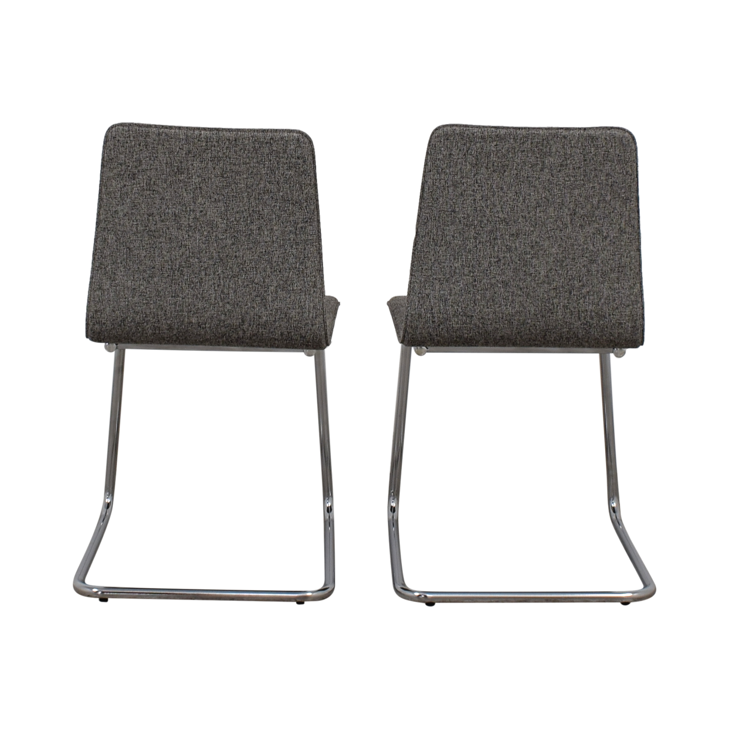 Superbe Shop CB2 Pony Grey Tweed Chairs CB2 Dining Chairs