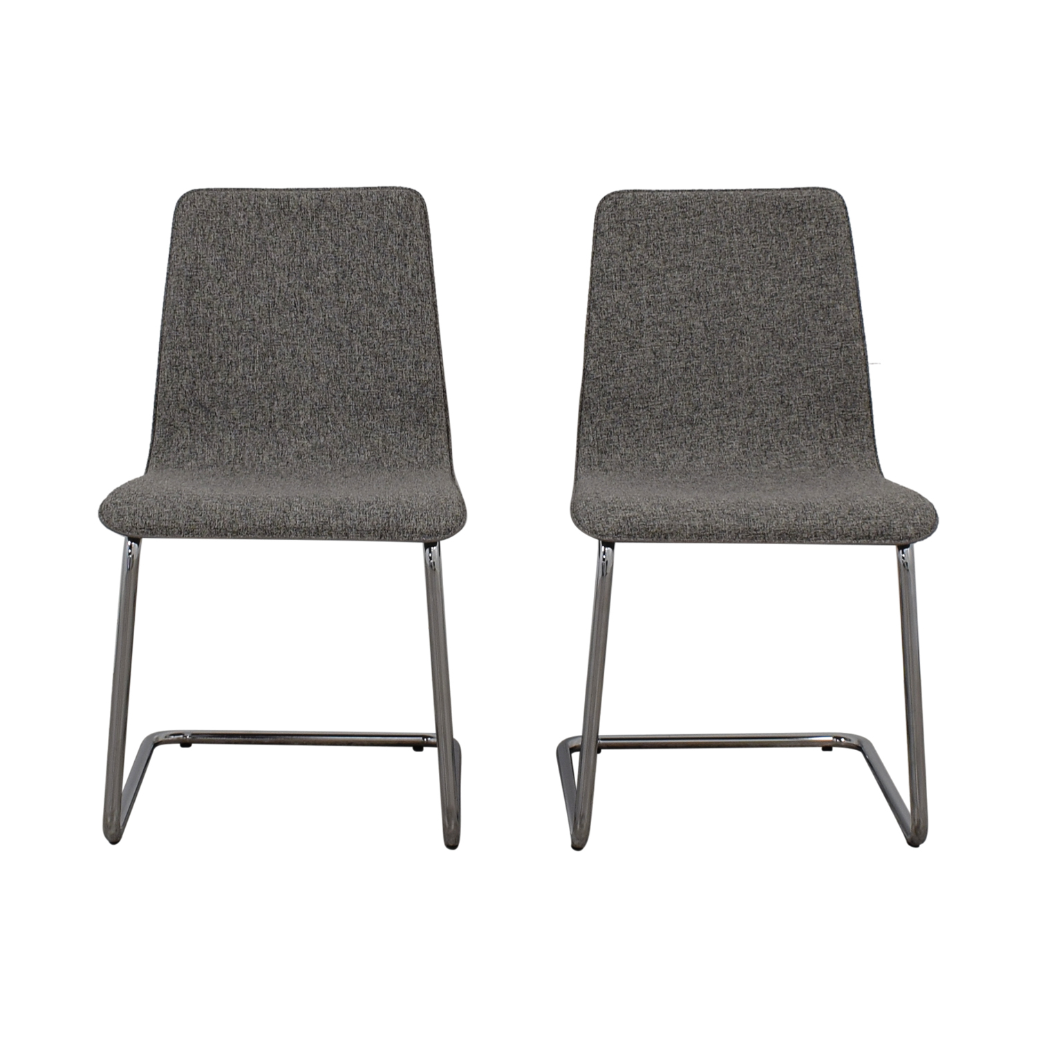 buy CB2 Pony Grey Tweed Chairs CB2