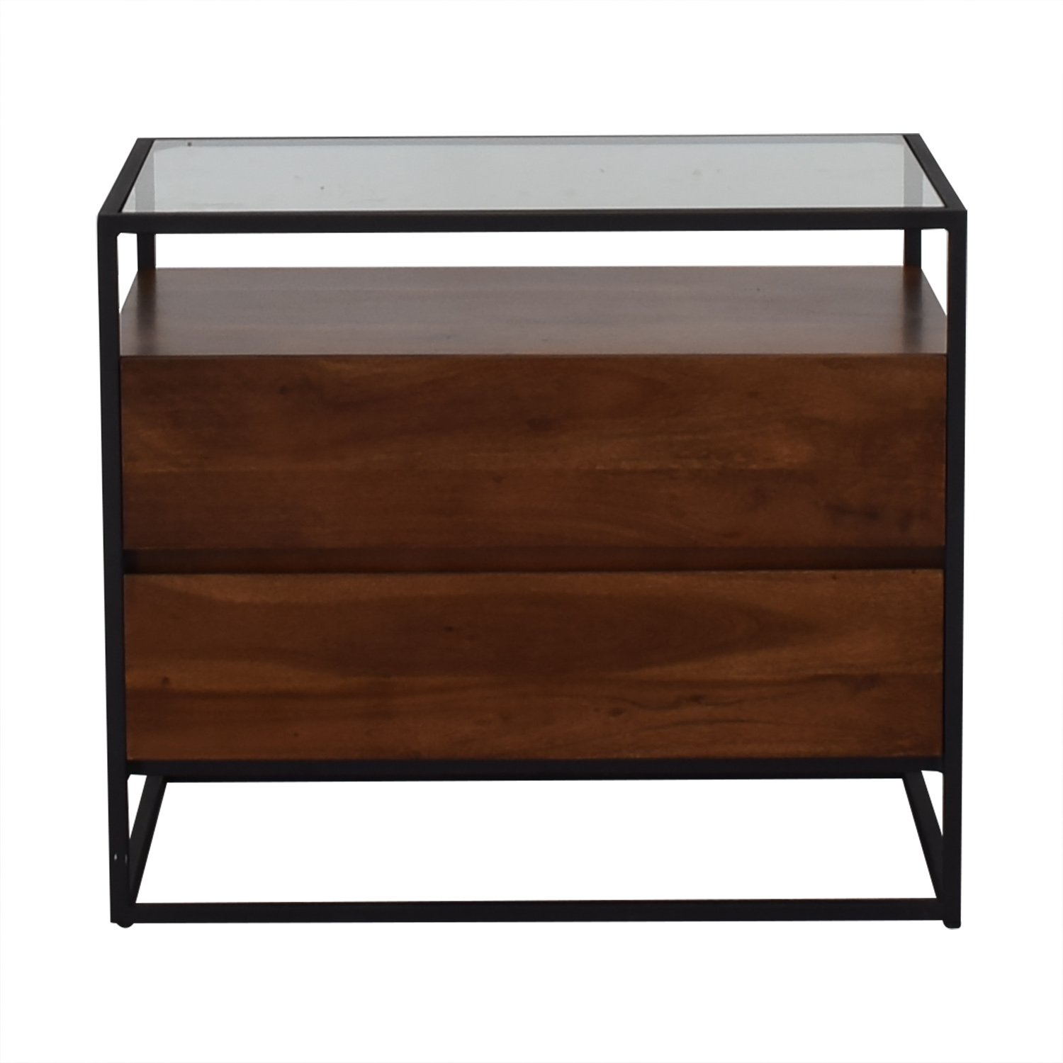 CB2 CB2 Crawford Glass Top Nightstand Tables