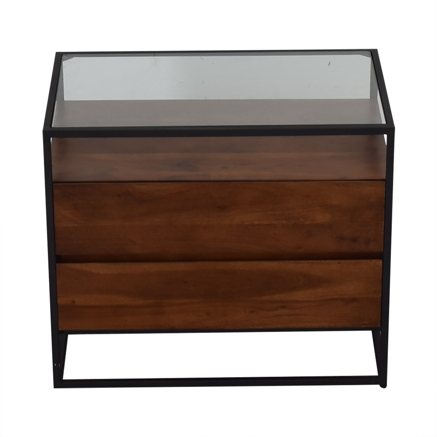 CB2 CB2 Crawford Glass Top Nightstand discount