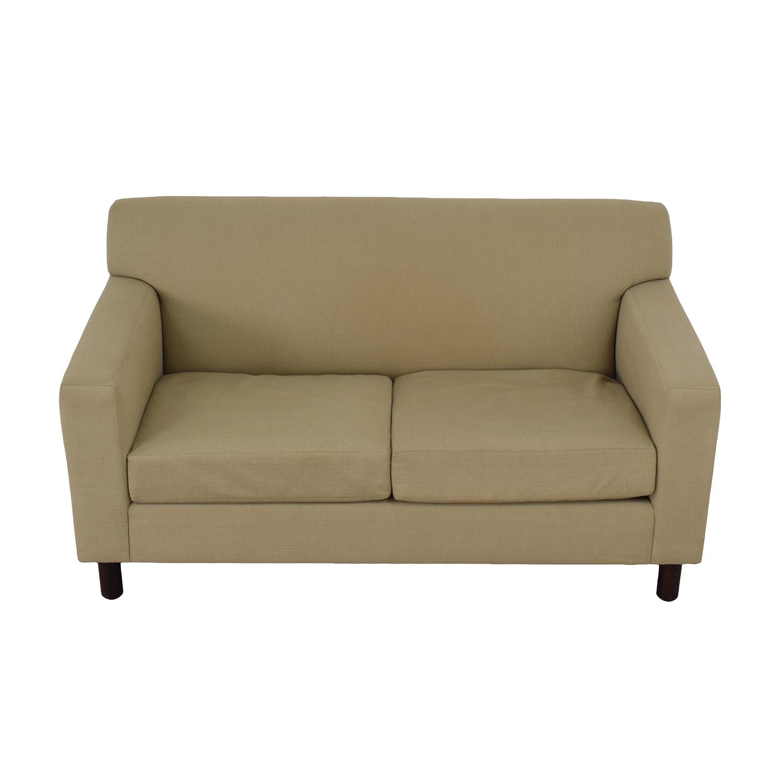Room & Board Beige Two-Cushion Loveseat sale