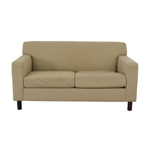 Room & Board Room & Board Beige Two-Cushion Loveseat nyc