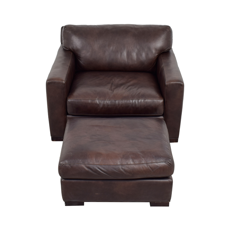 ... Buy Crate U0026 Barrel Axis II Leather Chair U0026 Ottoman Crate U0026 Barrel  Accent ...