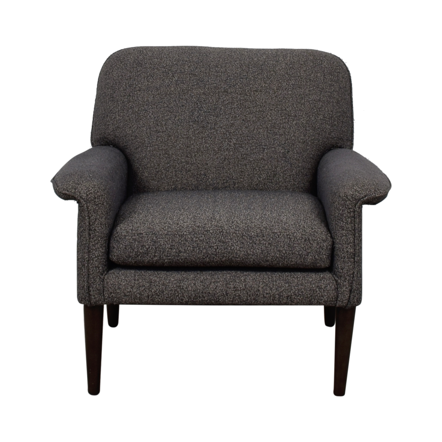 Grey Tweed Accent Chair second hand