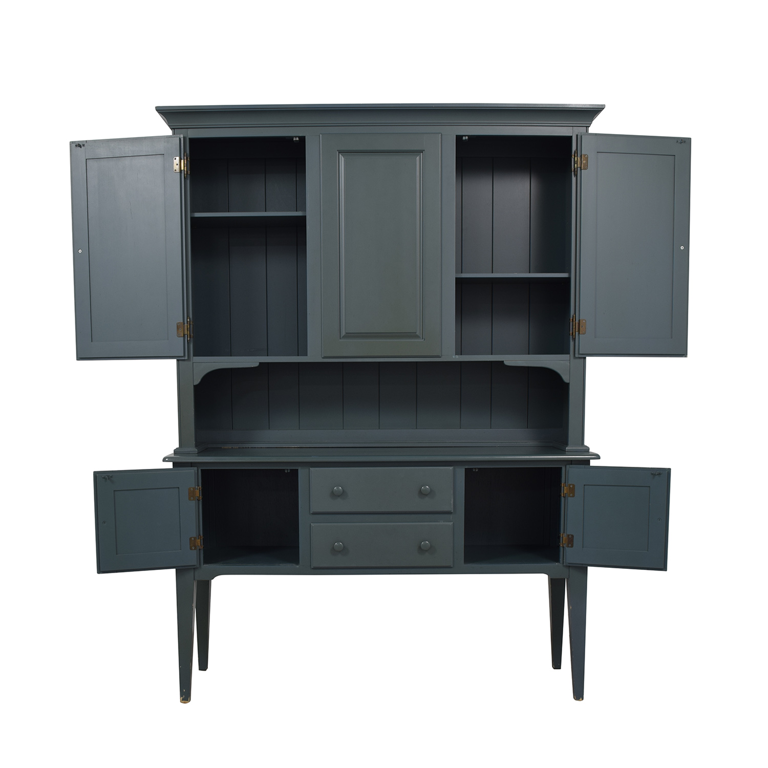 Nichols & Stone Nichols & Stone Teal Two-Drawer Hutch nj