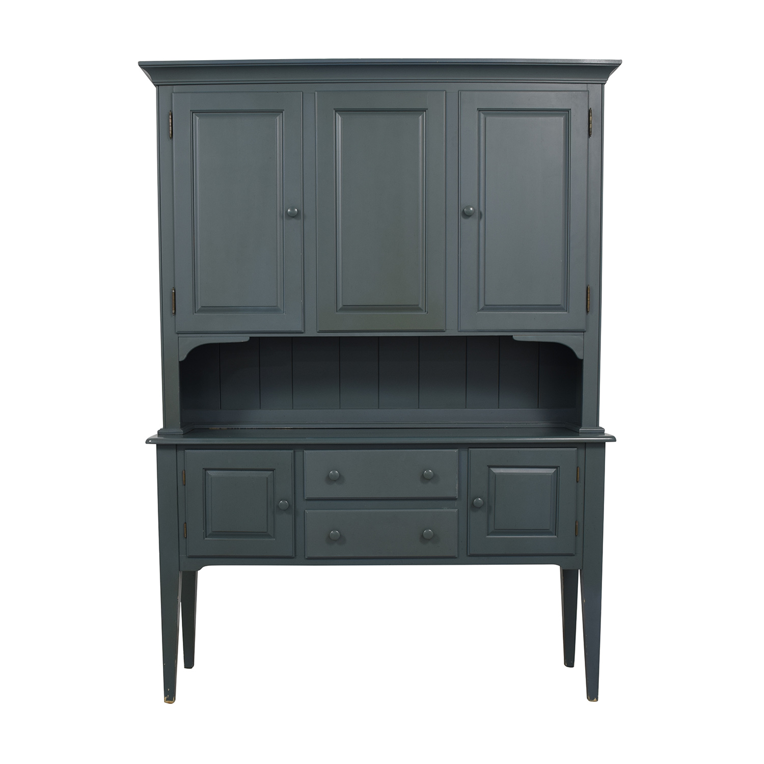 Nichols & Stone Nichols & Stone Teal Two-Drawer Hutch second hand