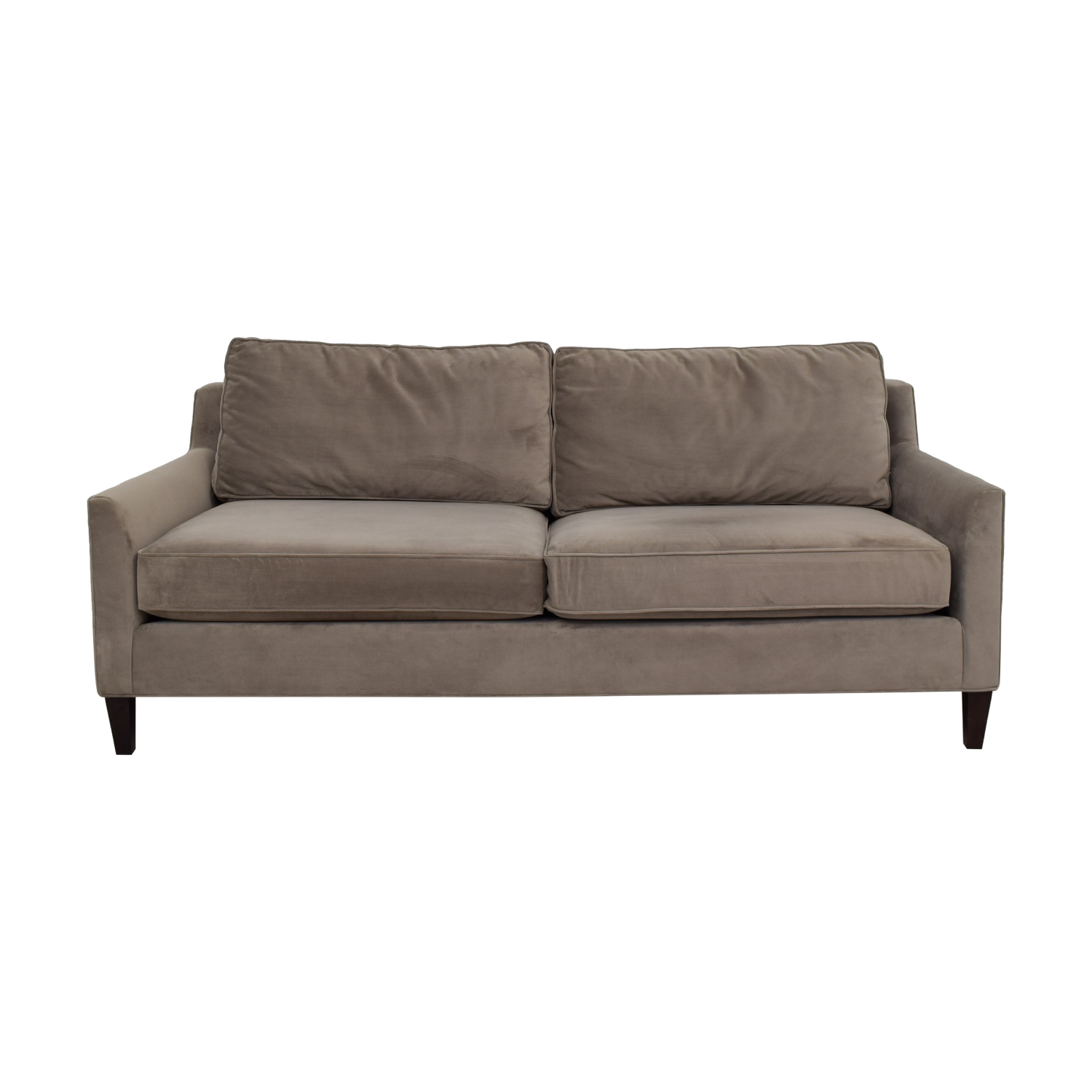 buy Pottery Barn Beverly Grey Two-Cushion Sofa Pottery Barn Sofas