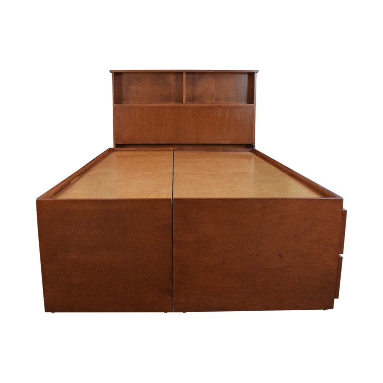 Gotham Cabinet Craft Wood Storage Three Quarter Bed Frame sale