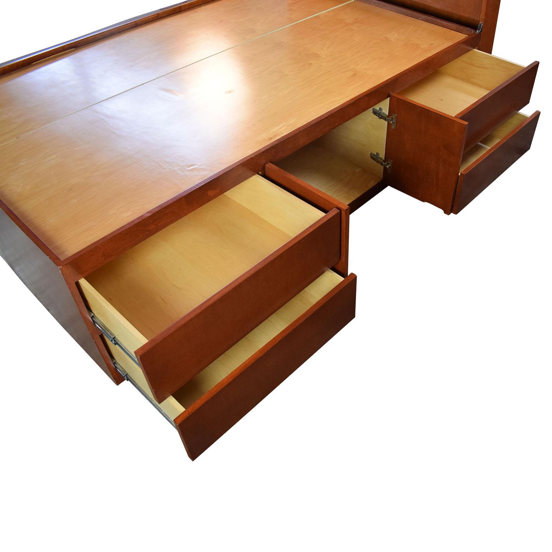 buy Gotham Cabinet Craft Storage Three Quarter Bed Frame Gothic Cabinet Craft