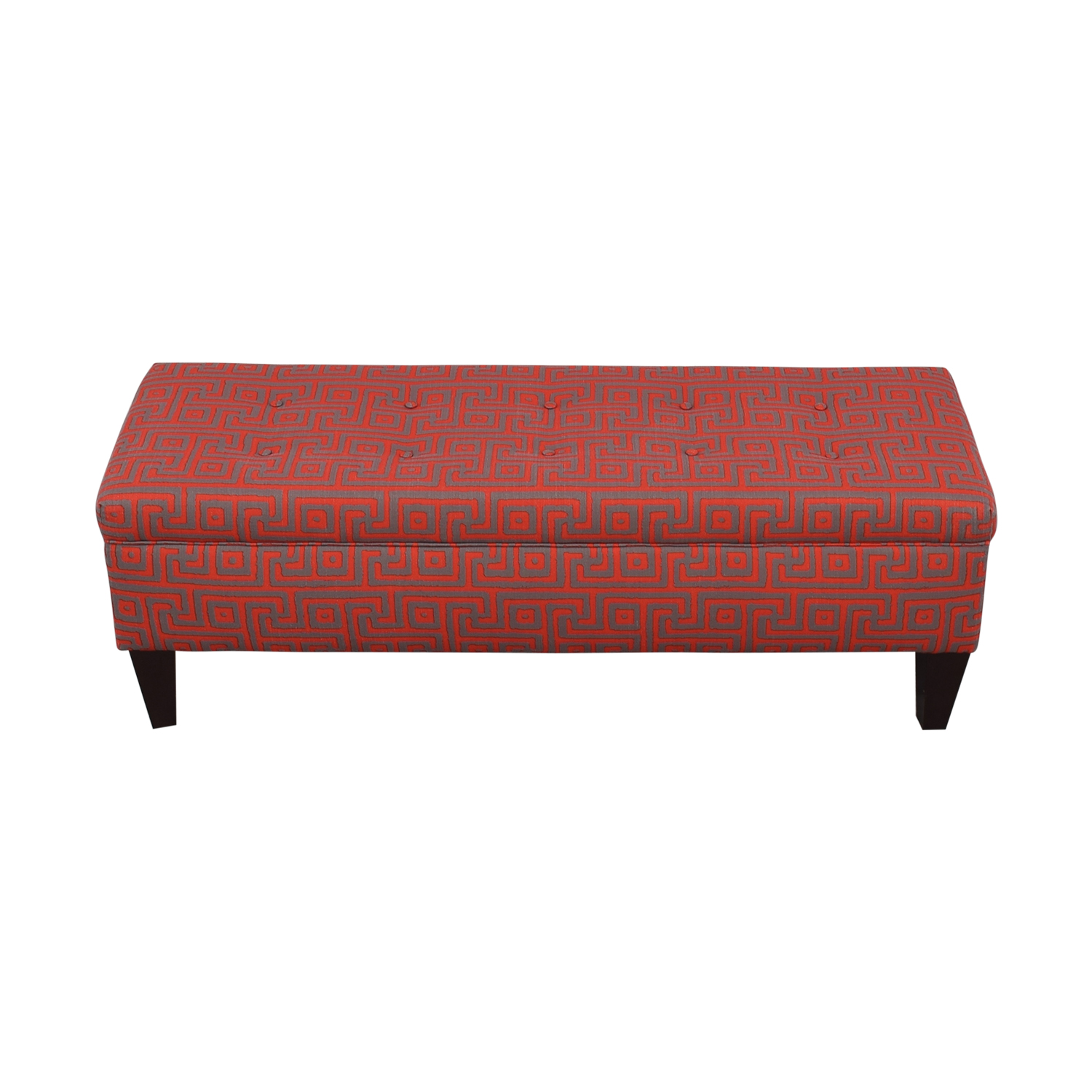 Sole Designs Brooke Red Upholstered Storage Bench / Trunks