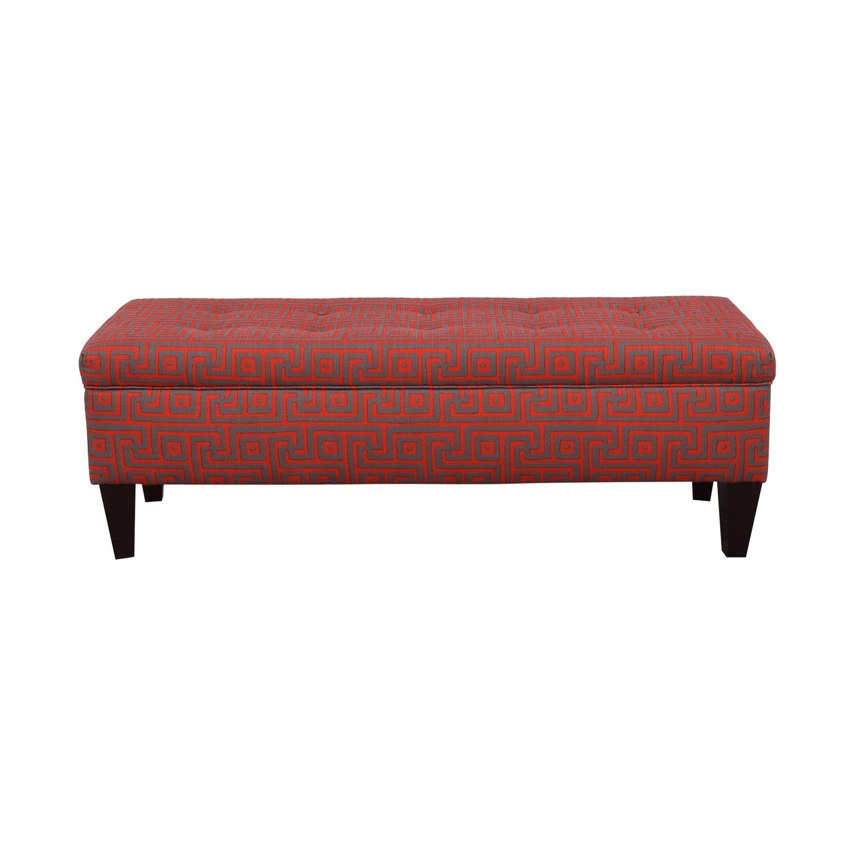 Sole Designs Brooke Red Upholstered Storage Bench sale
