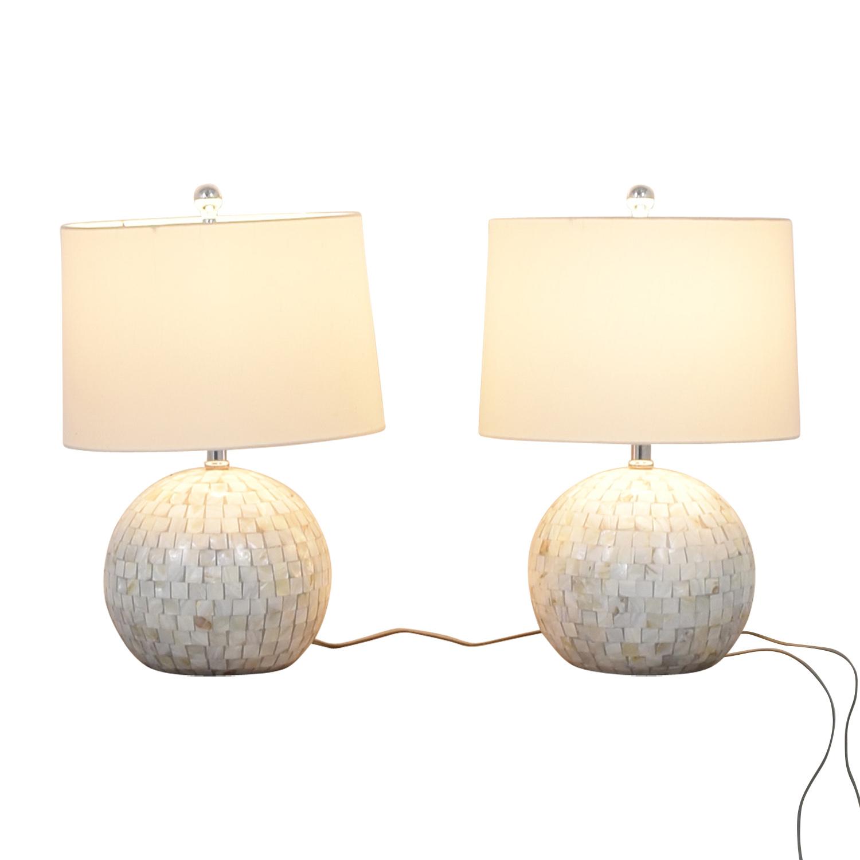 shop Safavieh Safavieh White Shell Table Lamps online
