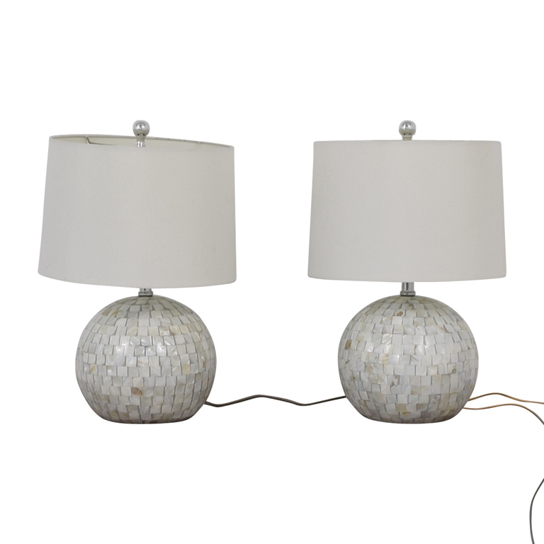 Safavieh White Shell Table Lamps sale