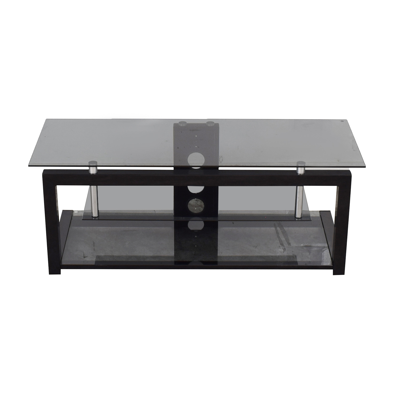 BBY Solutions Glass and Black TV Stand / Storage