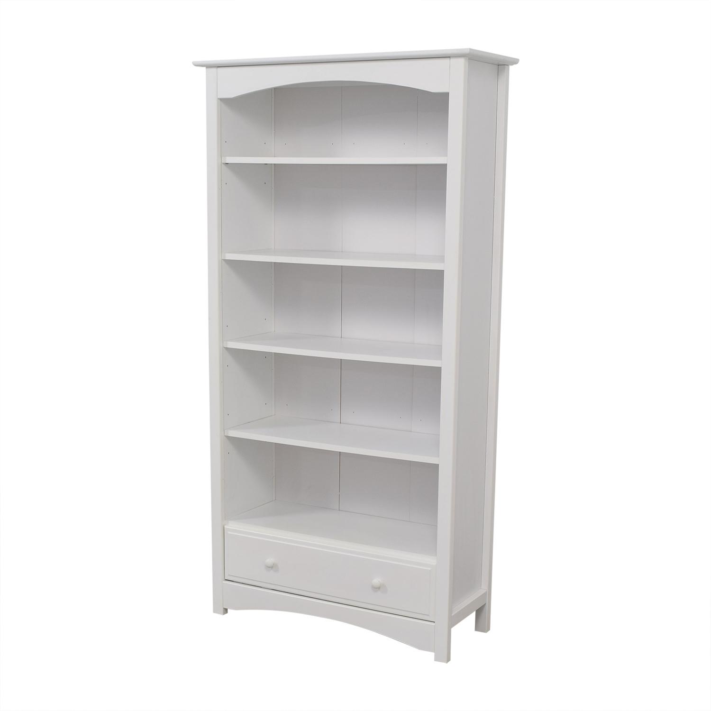 best authentic db169 55a89 41% OFF - Million Dollar Baby Million Dollar Baby White Single-Drawer  Bookshelf / Storage