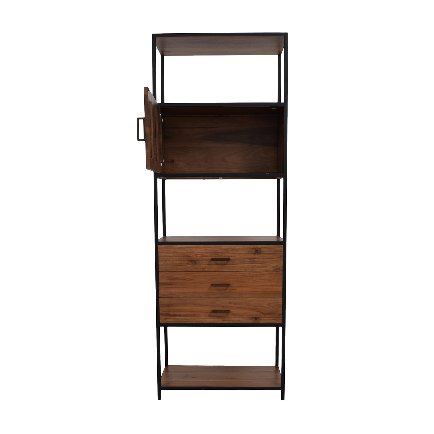 West Elm Industrial Wood and Black Bookshelf / Bookcases & Shelving