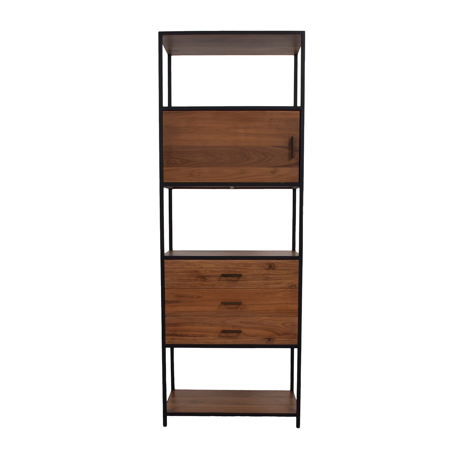 West Elm West Elm Industrial Wood and Black Bookshelf nyc