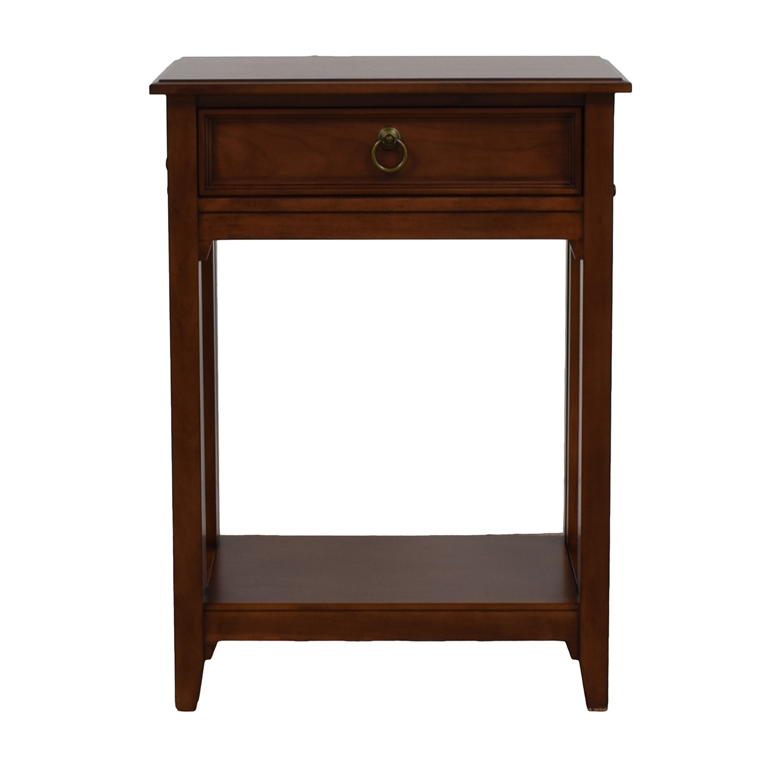 Single Drawer Wood Extendable Side Table on sale