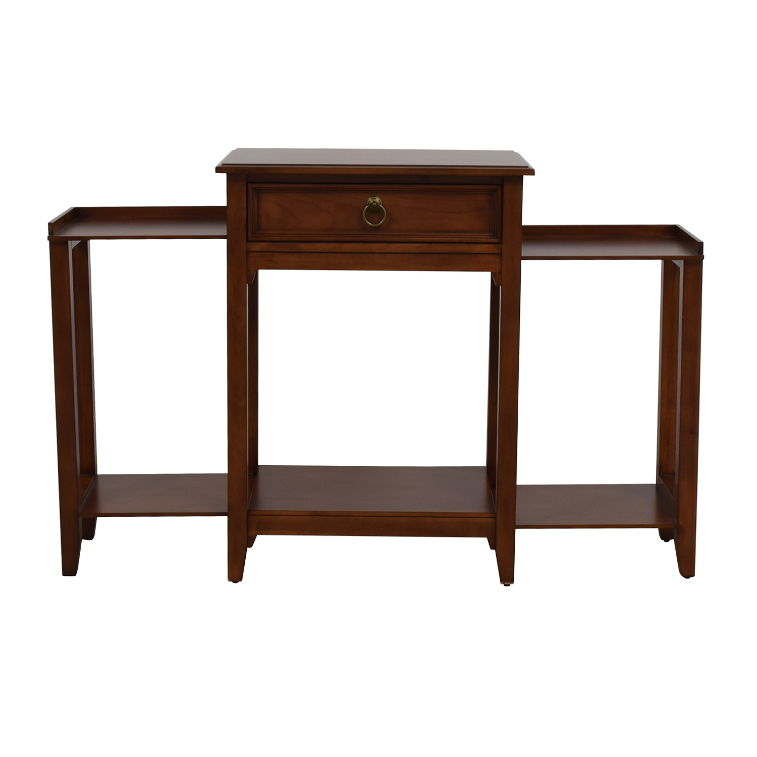 Single Drawer Wood Extendable Side Table second hand