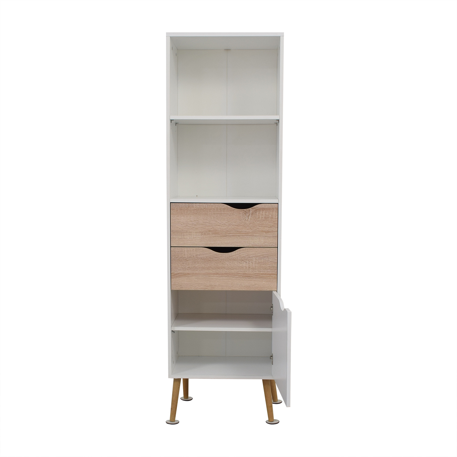 shop Amazon Amazon White Two-Drawer Storage Bookcase online