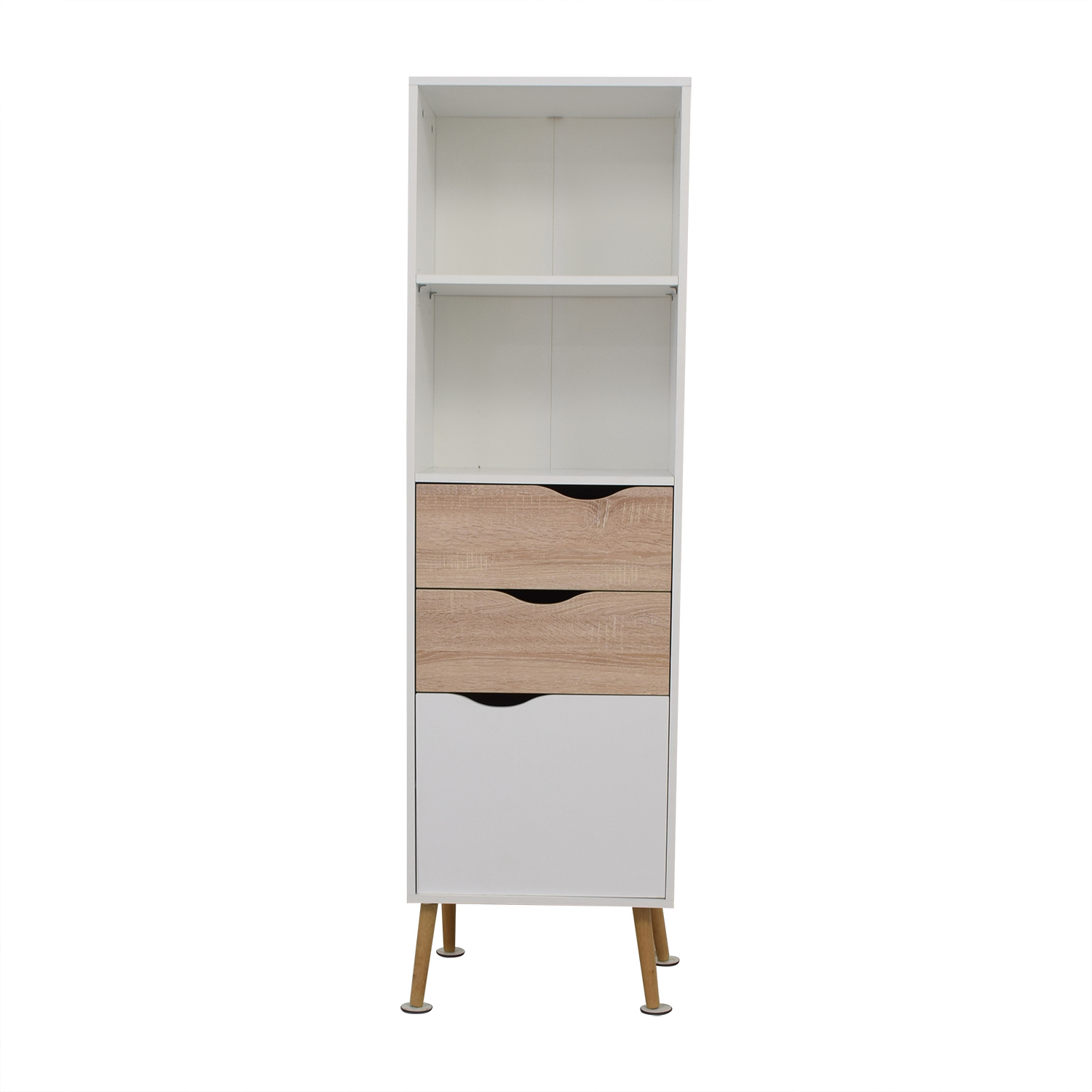 Amazon Amazon White Two-Drawer Storage Bookcase second hand