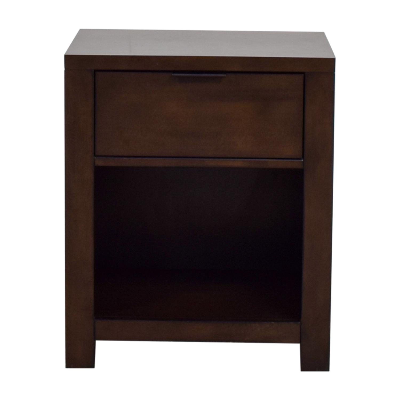 Macy's Macy's Single Drawer Wood End Table brown