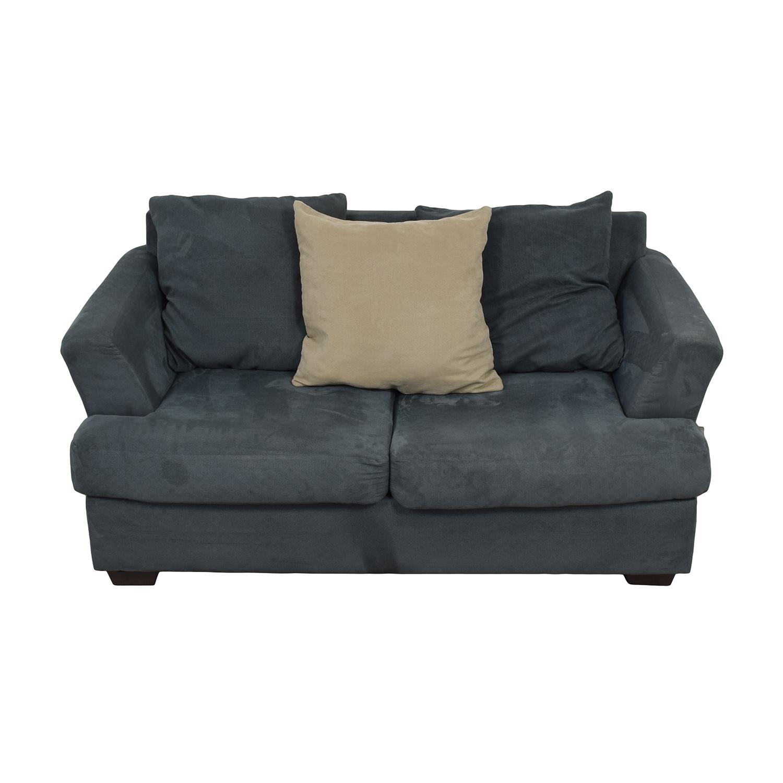 buy Ashley Furniture Ashley Furniture Signature Mindy Indigo Two-Cushion Loveseat online