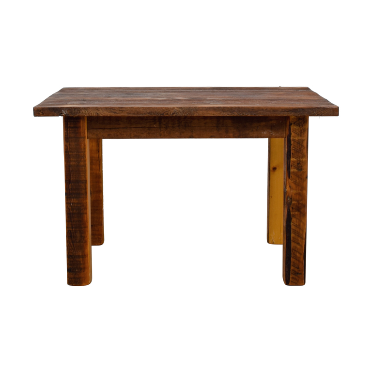 buy Rustic Wood Dining Table  Tables