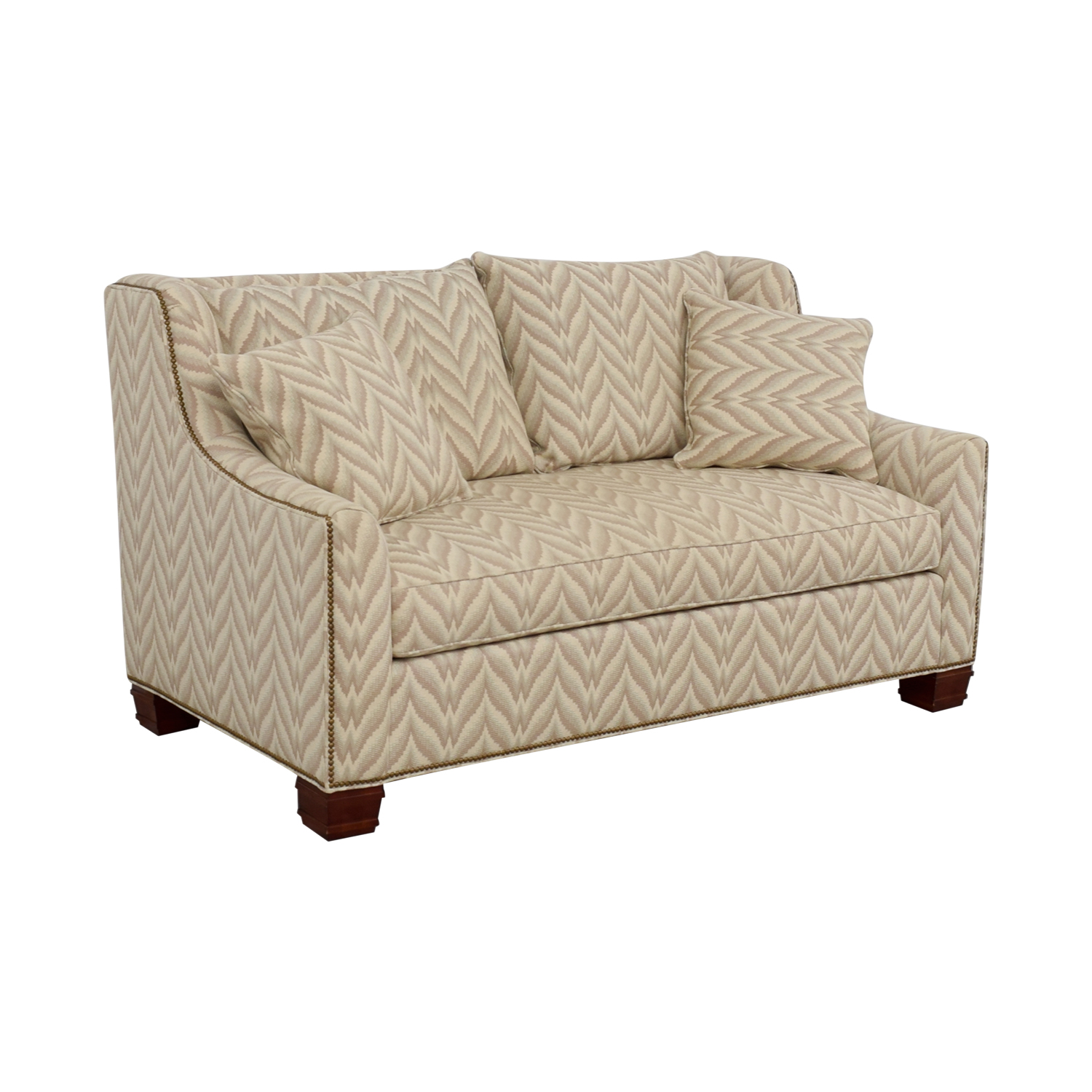 shop The Hickory Chair Furniture Co. Chevron Nailhead Loveseat The Hickory Chair Furniture Co.