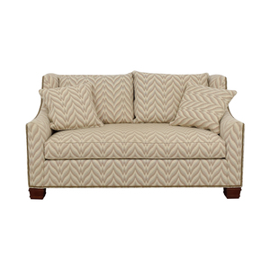 The Hickory Chair Furniture Co. Chevron Nailhead Loveseat Hickory Chair