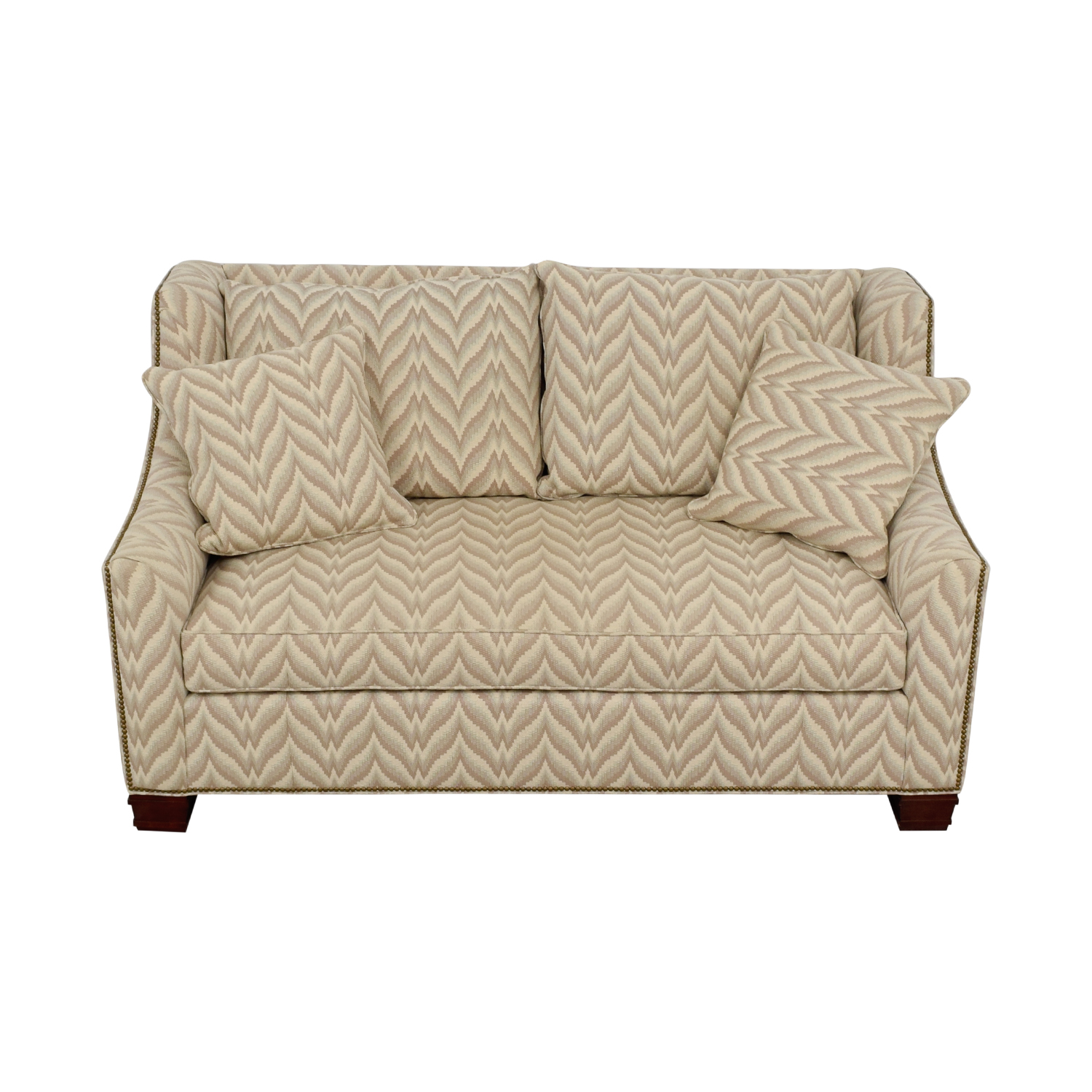 The Hickory Chair Furniture Co. The Hickory Chair Furniture Co. Chevron Nailhead Loveseat for sale