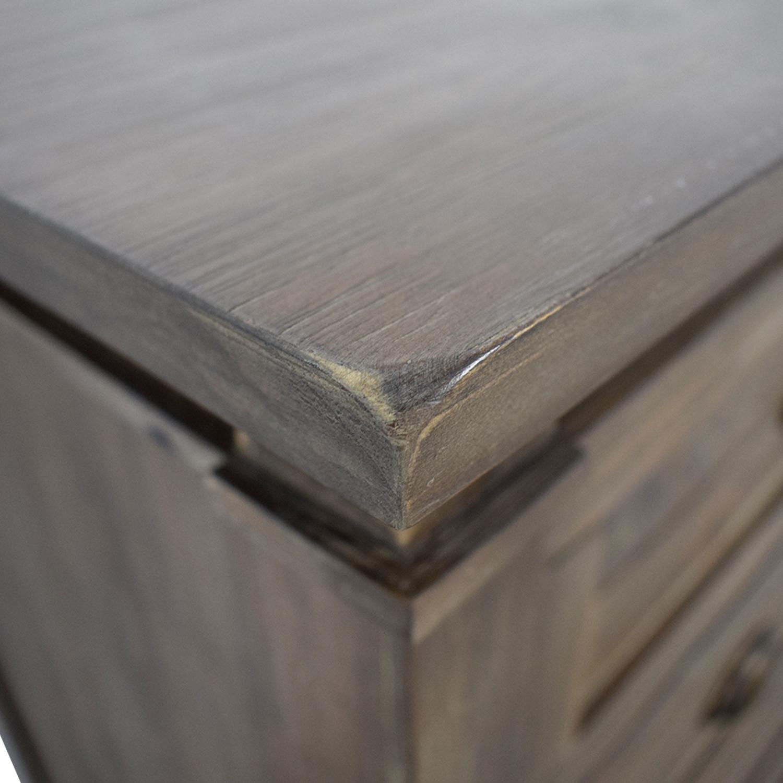 buy World Market Grey Wood Four-Drawer Dresser World Market