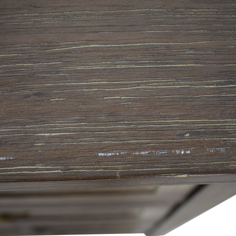 World Market Grey Wood Four-Drawer Dresser / Dressers